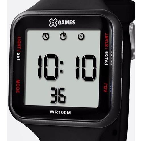 Relógio X-games Unissex Digital Xgppd090 Preto Quadrado + Nf