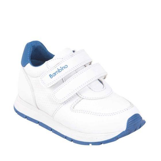 Tenis Escolar Niño Bambino Blanco/ Azul Rey 825256 Sco 19 J