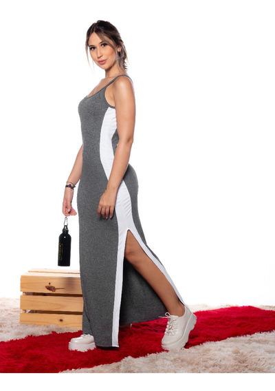 Moda Feminina Vestido Midi Casual Ultra Leve E Confortável