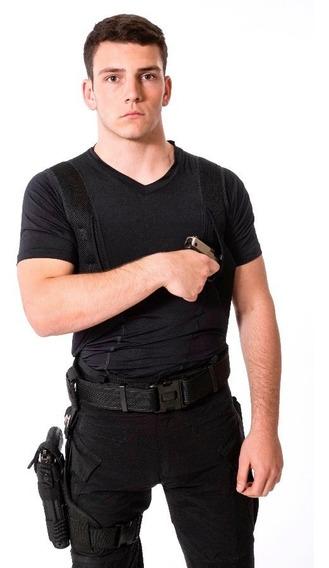 Remera Spy Cover Cop Sobaquera Oculta Armamento Manga Corta