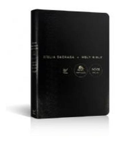 Bíblia Bilingue Capa Luxo Português Inglês Notas De Rodapé