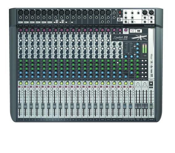 Mesa De Som 22 Canais Signature 22 Mtk Usb Soundcraft