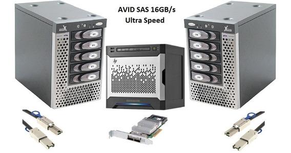 Microserver Storage Hp Switch 10 Portas 15 Discos Sas Xeon