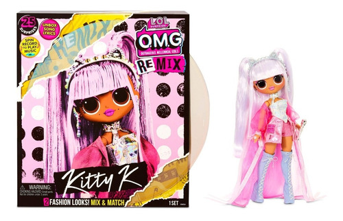 Imagen 1 de 5 de L.o.l. Surprise! Omg Remix Kitty K 25 Sorpresas Fashion Doll