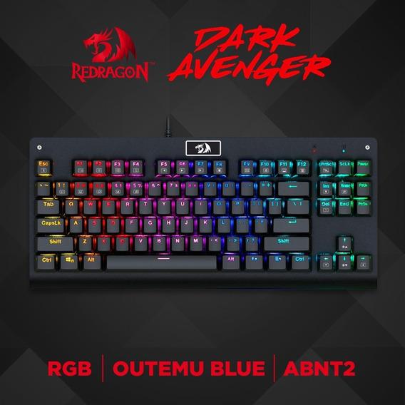 Teclado Mecânico Gamer Redragon Dark Avenger Rgb Switch Blac