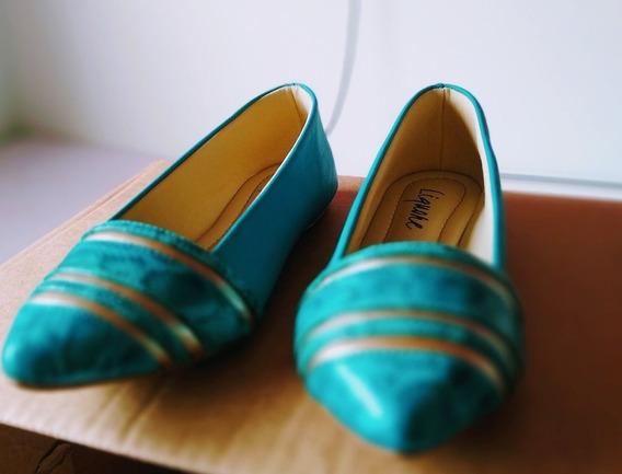 Sapatilha Azul Turquesa - Sapatos Femininos
