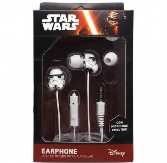 Fone De Ouvido Earphone Star Wars Storm Trooper Original