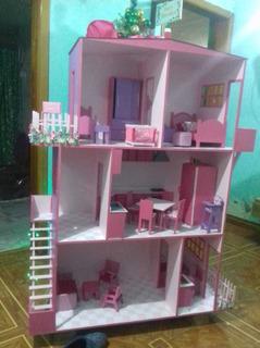 Casita De Mdf Especial Para Barbie En Oferta Por Este Mes