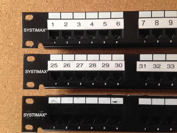 Pachera Systimax 1100 Pse Power Sum Panel 24 Puertos Cat5e