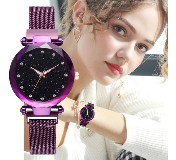 Relógio Feminino Céu Estrelado + Brinde
