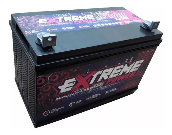 Bateria Estacionária 120 Ah Extreme Power Som Automotivo 12v