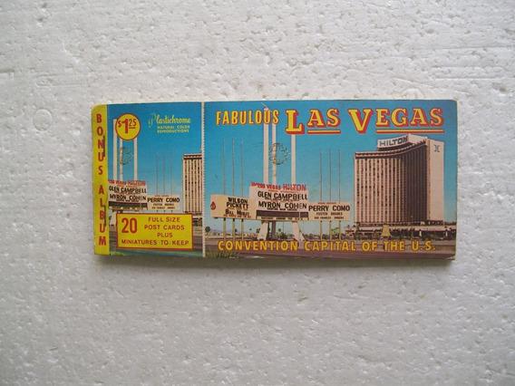 Álbum 20 Cartões Postais- Hotéis Cassino- Las Vegas- Anos 70