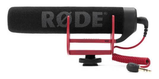 Microfone Shotgun Rode Videomic Go Com Sistema De Suspensão