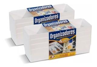 Organizadores Cajon Ropa Interior Medias Colombraro Kit X 8