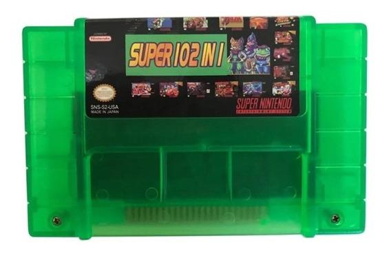 Cartucho Fita 102 Jogos Em 1 - Super Nintendo / Snes