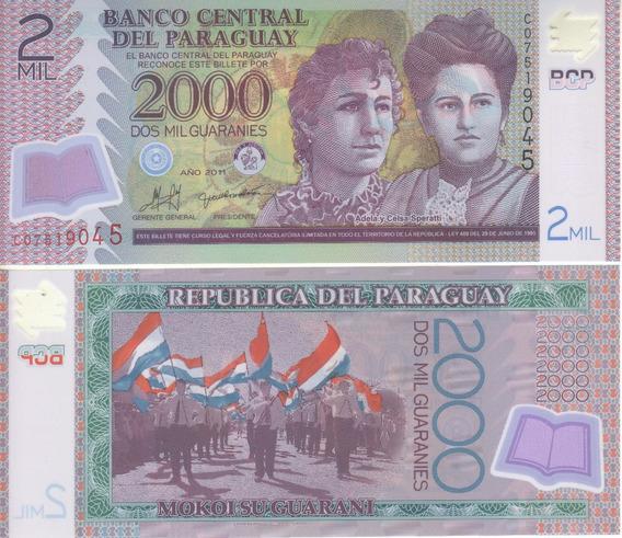 Paraguay Billete 2.000 Guaraníes Polímero 2011 - P 228 - Unc