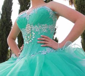 24b8e95aa Vestido De Xv Años Verde Menta en Mercado Libre México