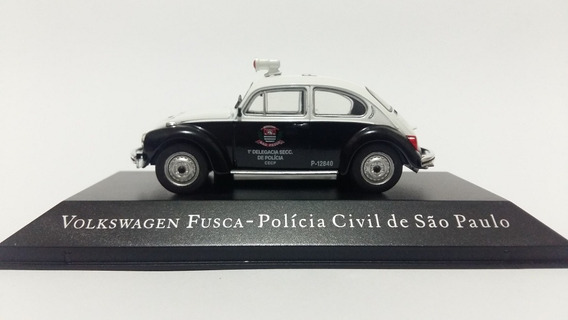 Veículos De Serviço - Vw Fusca - Policia Civil - Sp - 1/43