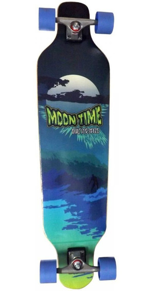 Longboard Completo Moontime Wave Speed 40x10 Azul Owl Sports
