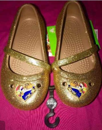 Crocs Disney La Bella Y La Bestia Orig. N24 Divinas!!