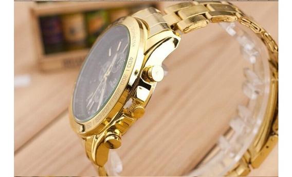 Relógio Masculino De Pulso Dourado