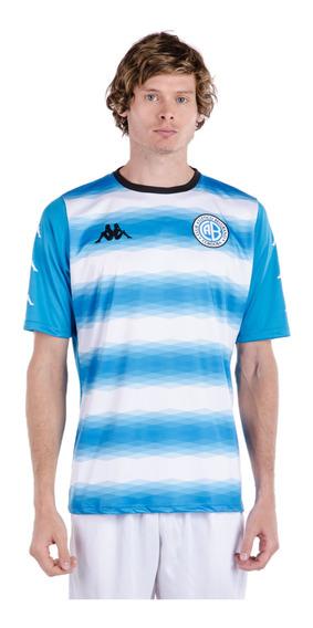 Camiseta Pre-match Belgrano 2018 Celeste Hombre Kappa