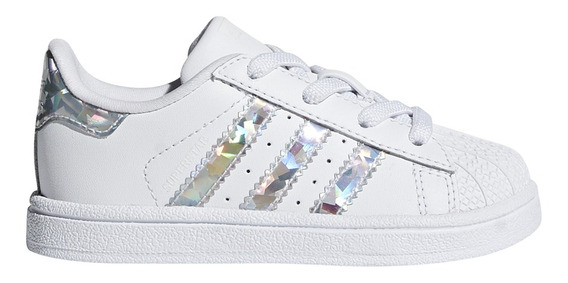 Zapatillas adidas Originals Moda Superstar El I Bebe Bl/pl