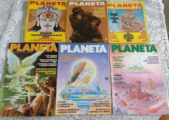 Lote Revistas Planeta - 9 Edições - Raras - Anos 72/77/85/90