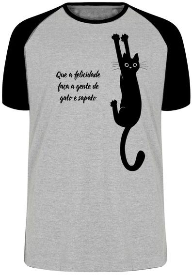 Camiseta Luxo Gato E Sapato Amor Amizade Cat Gatinho Felino