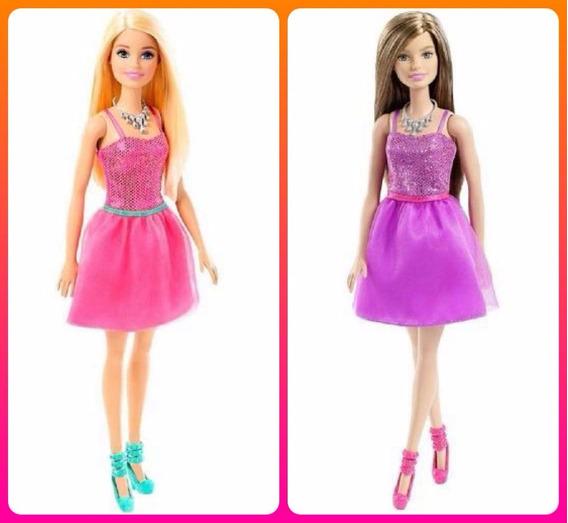 Boneca Barbie Fashion Glitter - Loira E Morena 2 Unid.mattel