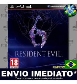 Jogo Ps3 Resident Evil 6 Psn Play 3 Legendas Mídia Digital