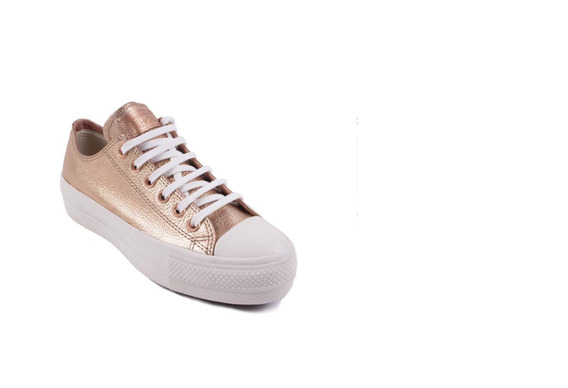Zapatillas Converse All Star Plataforma Rosa Metalizado Dama