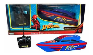Speed Boat Spiderman Con Control Remoto Yate Marvel Ditoys