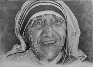 Dibujo A Lápiz Madre Teresa
