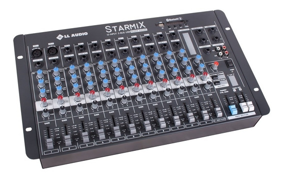 Mesa De Som 12 Canais Usb Bluetooth Starmix 1202bt Nca Ysm