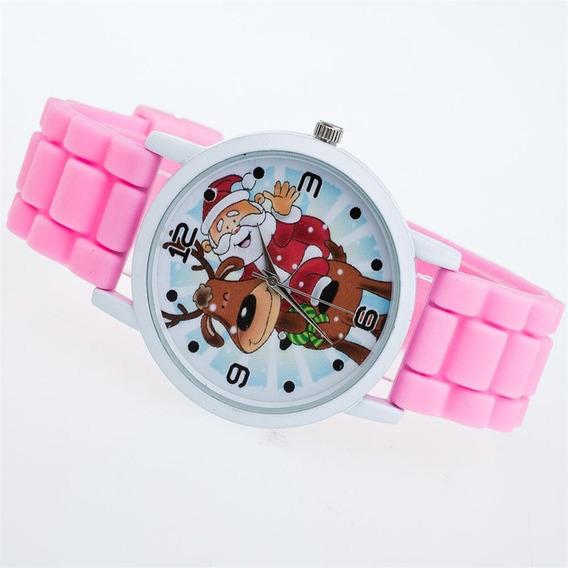 Ladies Natal Banda Silicone Relógio De Quartzo Zlf0604-d5-de