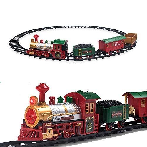 Juego De Tren De Navidad Para Debajo Del Árbol Con Luces Y