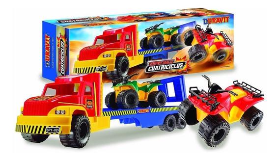 Camion Duravit 229 Transporte Cuatriciclos Nenes Plastico