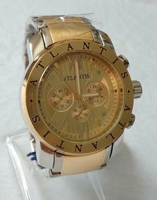 Relógio Dourado Masculino Original Atlantis A-3310.