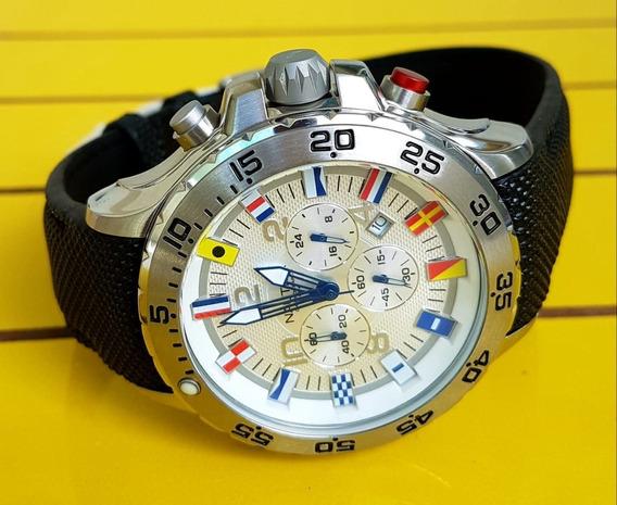 Relógio Nautica Cronômetro Lançamento A24520g Original.