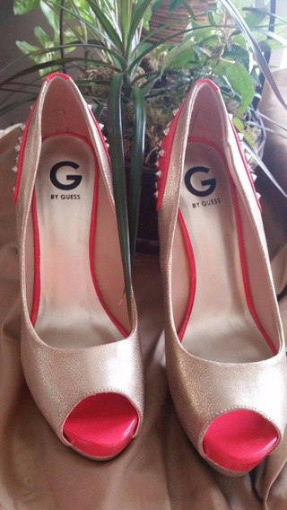 G By Guess Plataformas Peep Too Zapatos Fiesta Num 41 Usa !!