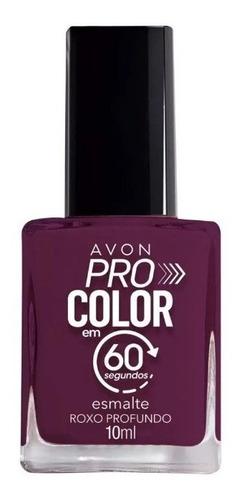 Imagem 1 de 1 de Avon - Pro Color 60 Segundos - Esmalte - Roxo Profundo
