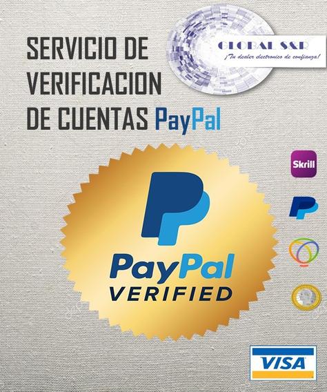 Verificacion Paypl 100%. Garantizado. 6m Y 1a +rep