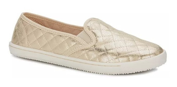 Sneaker Fashion Mujer Confort Ligero Metalizado Glam 2586243