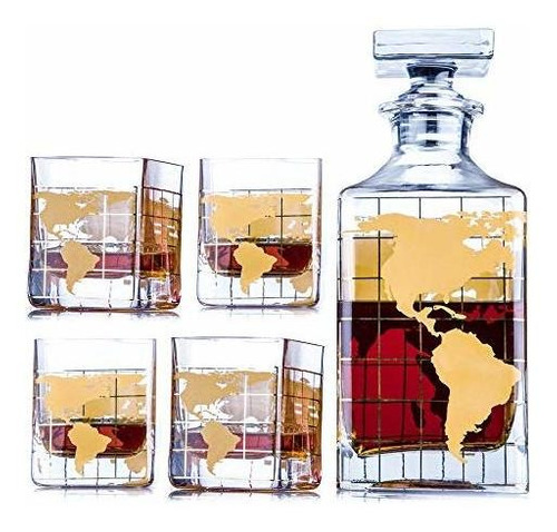 Whiskey Decanter Sets Globe Decanter For Alcohol 28 Oz By K