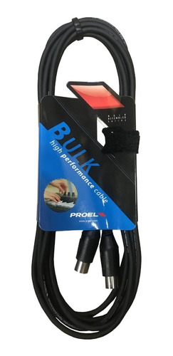 Cable Midi 5p Din Proel Bulk410lu5 5 Metros