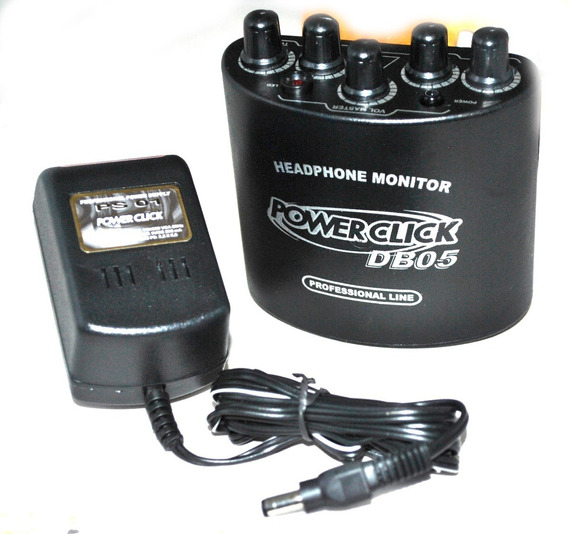 5x Amplificador Fone De Ouvido Power Click Db 05 + Fonte