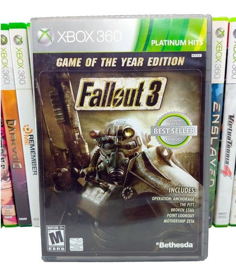 Jogo Fallout 3 Goty Game Year Xbox 360 Midia Fisica Original