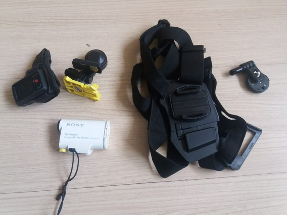Filmadora Tipo Action-cam Sony Hdr As100v Com Accessorios