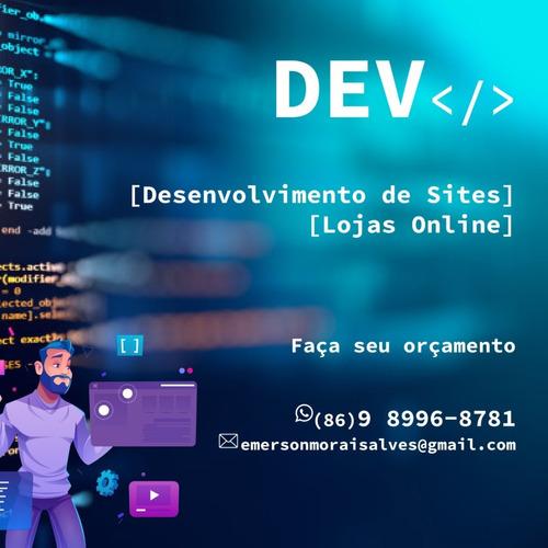 Criação De Sites Personalizados, Sistemas E Lojas.